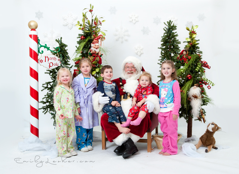 Children with Santa