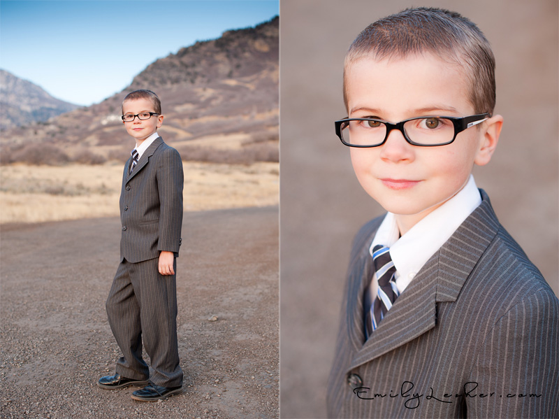 Utah photography - eight year old - glasses