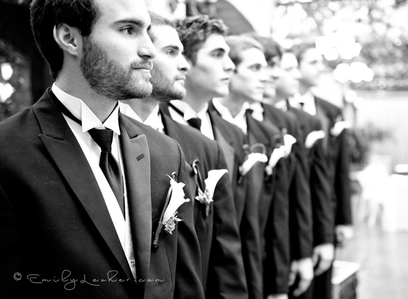 groomsmen lined up