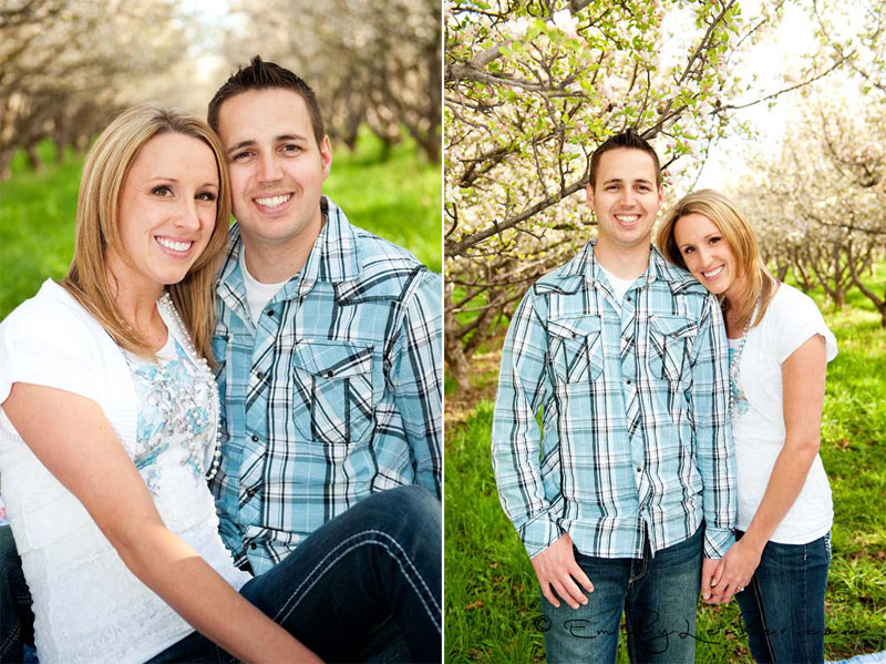 couple in orchard