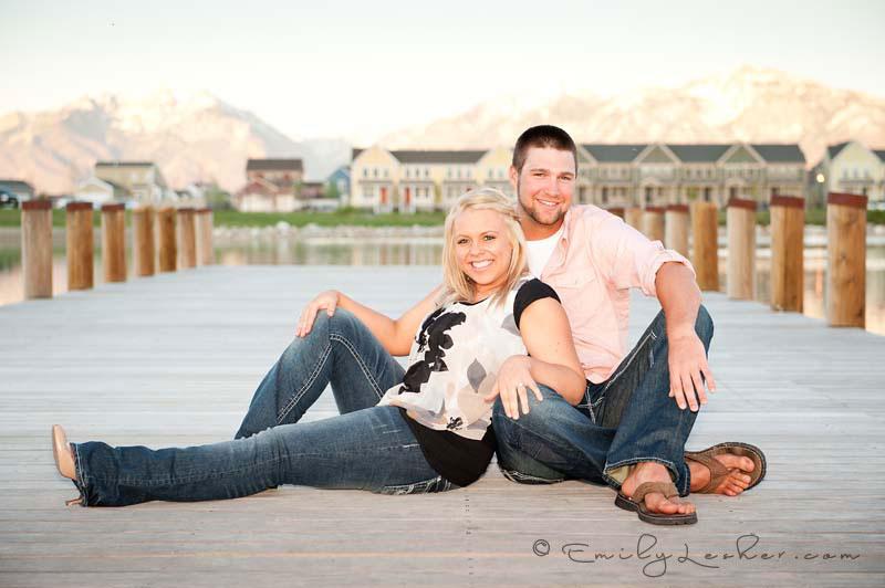 engaged couple at Daybreak