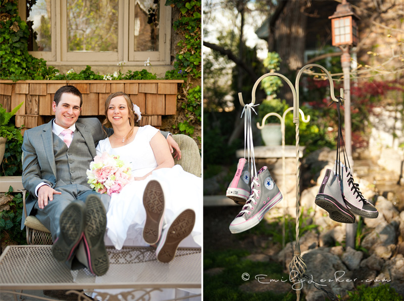 converse shoes, bride and groom wearing converse shoes