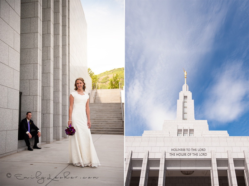 Draper LDS temple, Utah wedding photography