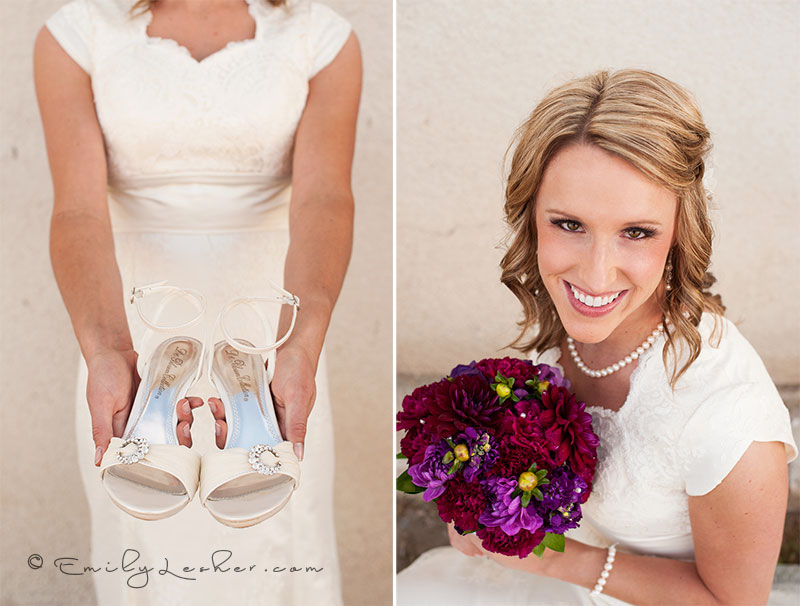 bridal shoes, boquet