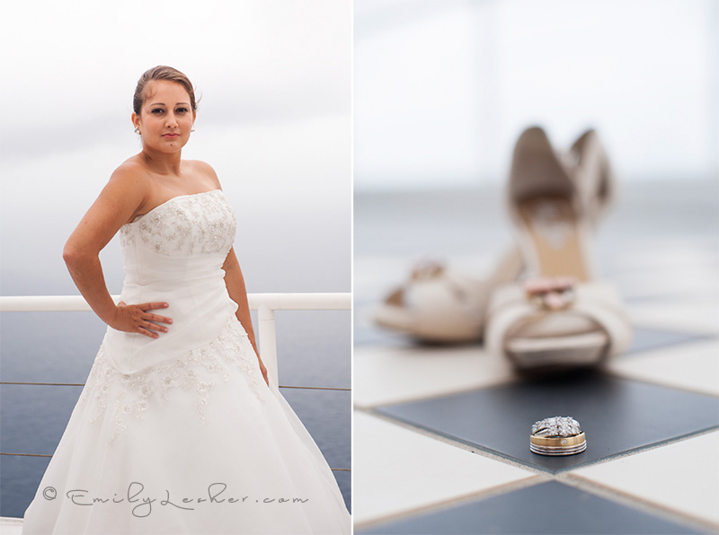 Bride, rings, shoes
