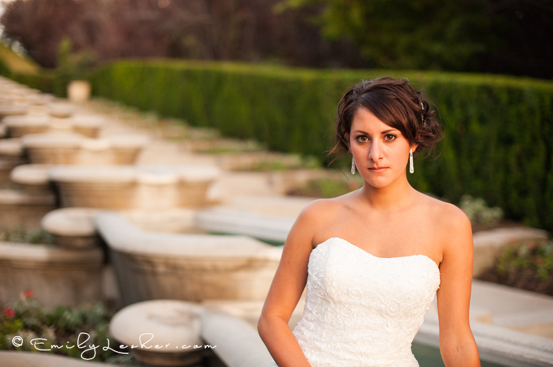 strapless dress, head shot