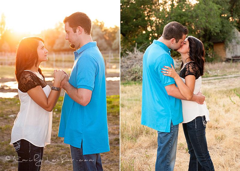 sunset, sunburst, couple holding hands