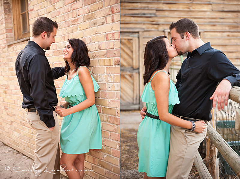 couple kissing, couple being playful
