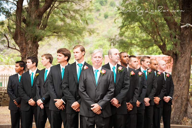 groomsmen, best man, cool formation, grooms looking off
