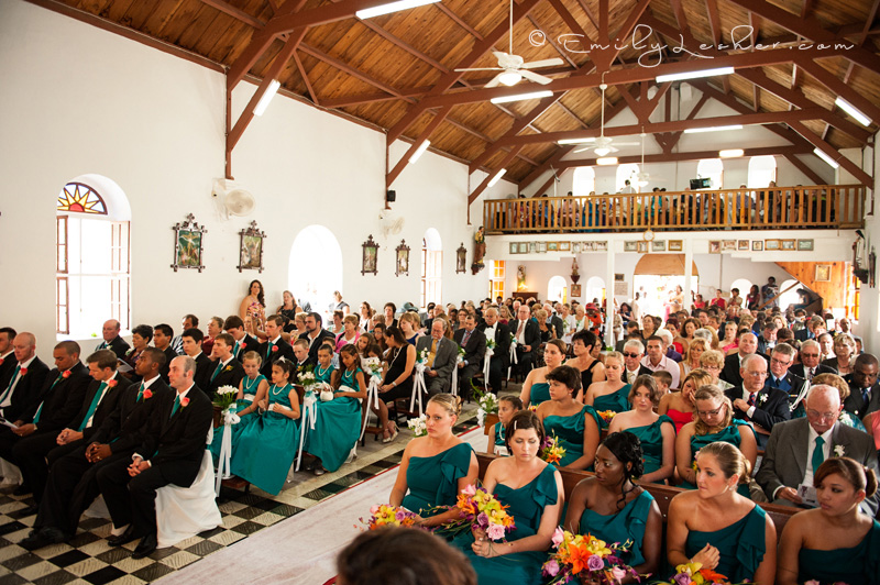 thousand wedding guests, Catholic wedding