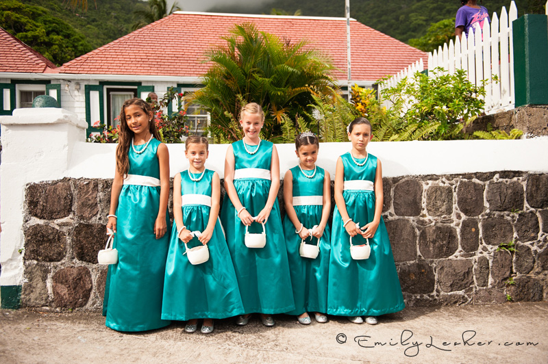 junior bridesmaids, turquoise dresses