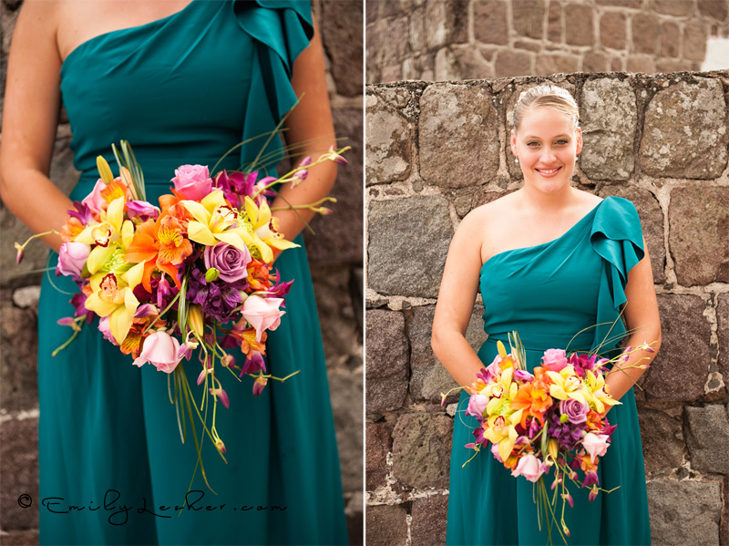 bridesmaid, flowers