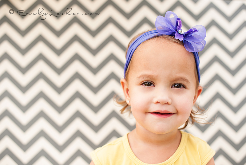 Baby bling bows, chevron stripes, baby girl, yellow shirt, purple bow