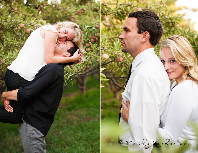 couple playing, bride being lifted,