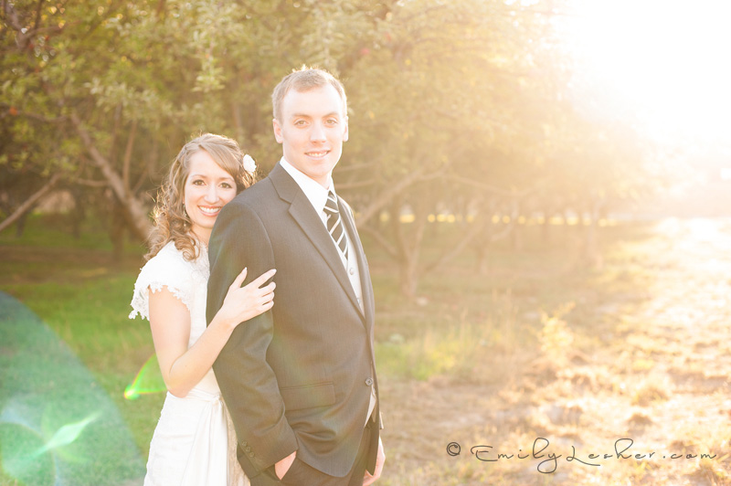 bride and groom in Provo