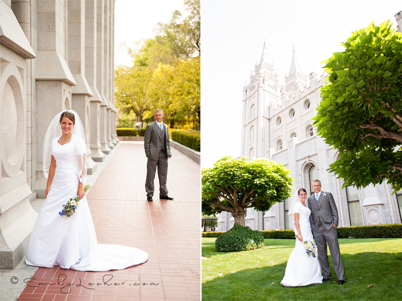 Salt Lake Temple, bride and grrom