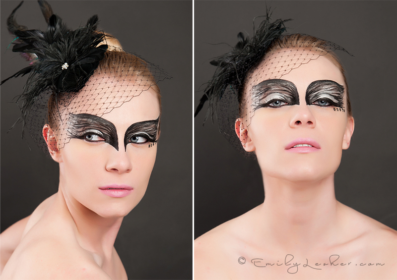 MAC makeup, swan, black swan, black feathers