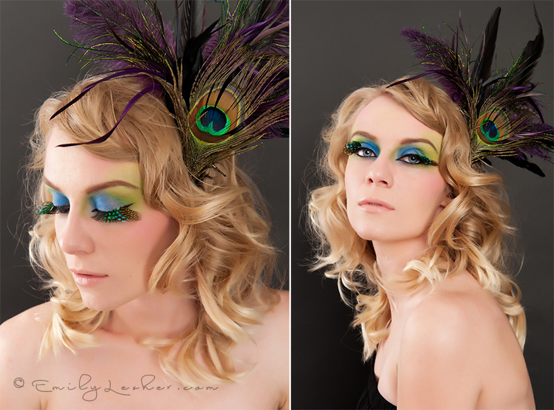 MAC makeup, peacock, peacock makeup,