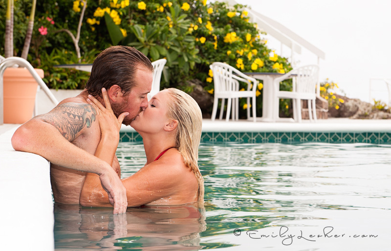 Couple kissing in the pool, Shearwater pool, Caribbean Photographer, 