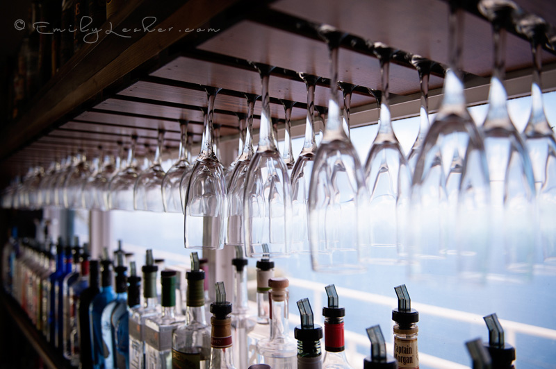 Wine glasses, bar in the Caribbean, Caribbean Photographer