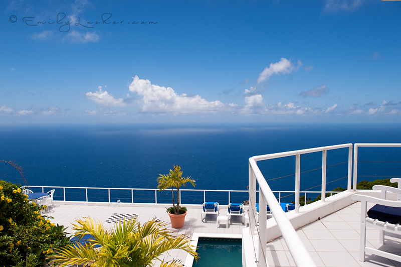 Shearwater resort, blue ocean, clouds, view, overlook, Caribbean Sea