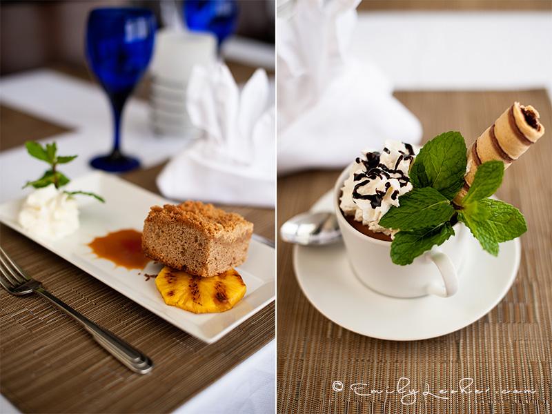 Desserts, gourmet desserts, Dutch West Indies