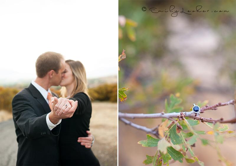 blue wedding ring, sapphire wedding ring, engaged couple