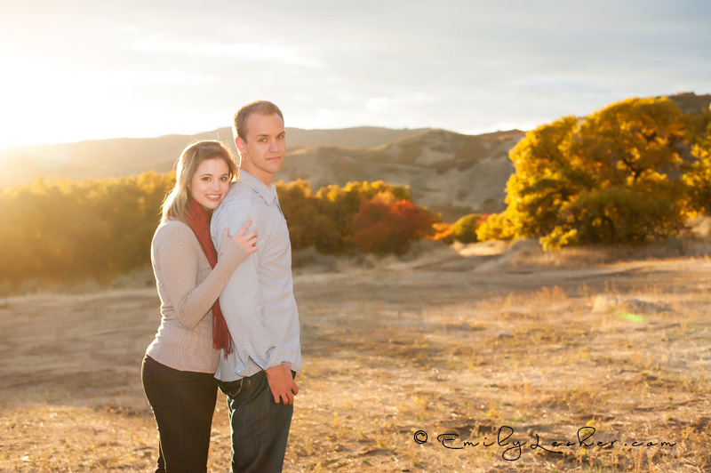 sun flair, sun burst, sun drenched, couple, utah mountains, fall colors