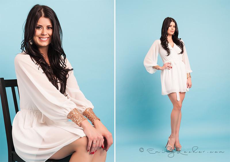 White chiffon dress, white cocktail dress, Miss Utah USA, Kendyl Bell, Emily Lesher Photographer,