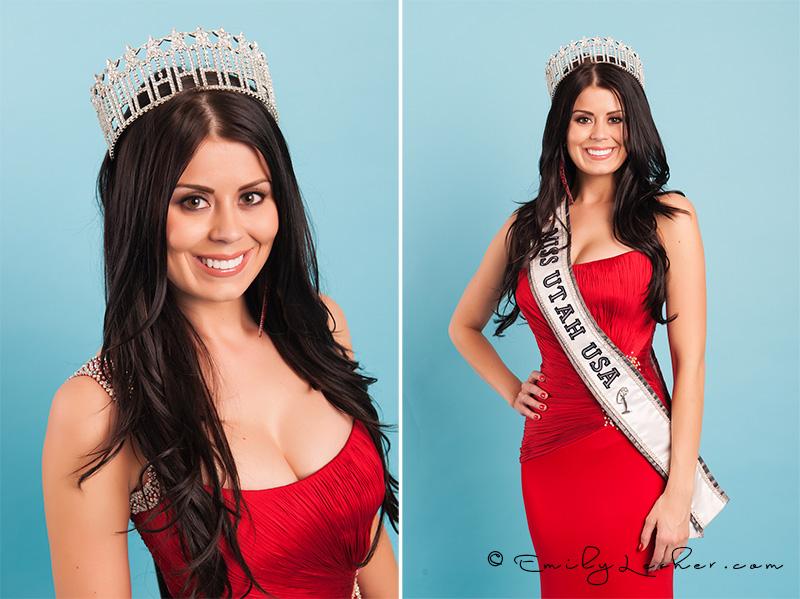 Miss Utah, Kendyl Bell, red evening gown, Miss Utah USA crown
