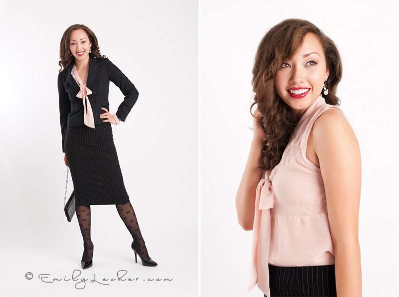 Black business suit, Hmong model, Asian model, Emily Lesher Photographer