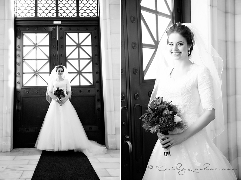 Beautiful doors, capitol building doors, bride in front of capitol building doors